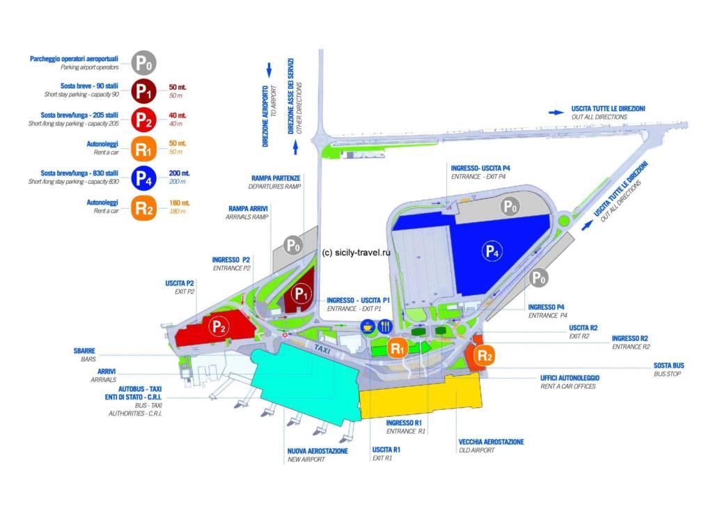 Катания аэропорт схема