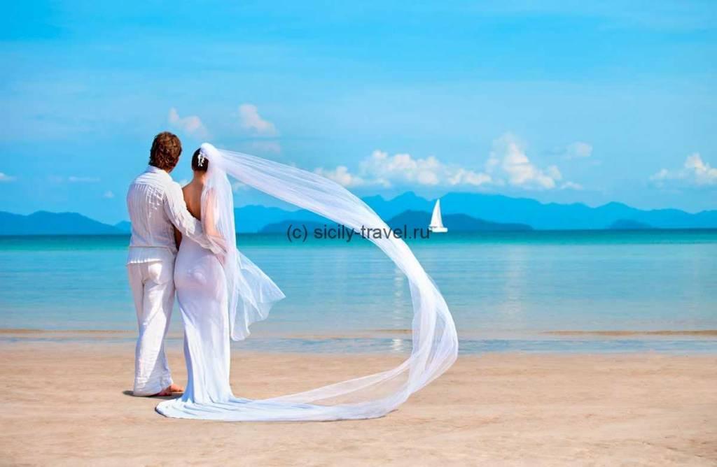 Сицилийская свадьба на берегу моря