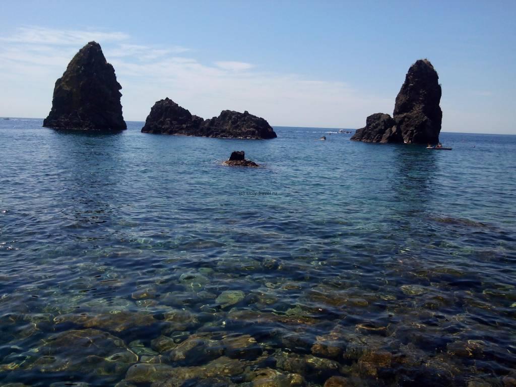 Пляж в Ачитрецца Сицилия