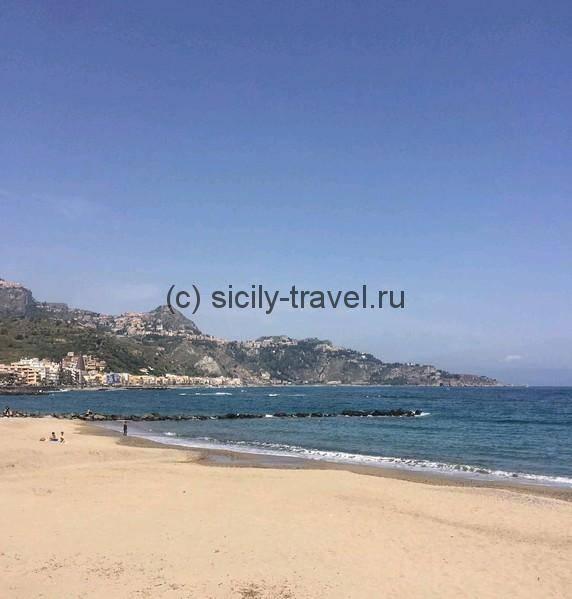 Пляж Джардини Наксос