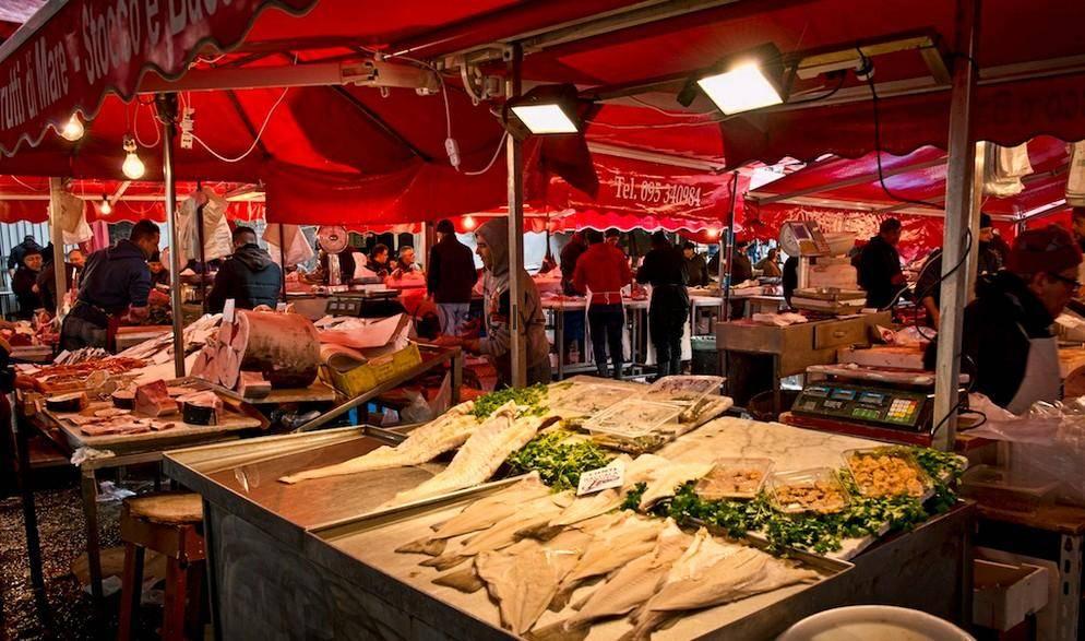 Рыбный рынок Катании