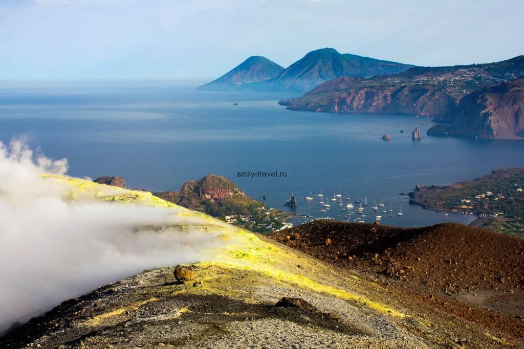 Достопримечательности Сицилии Остров Вулкано
