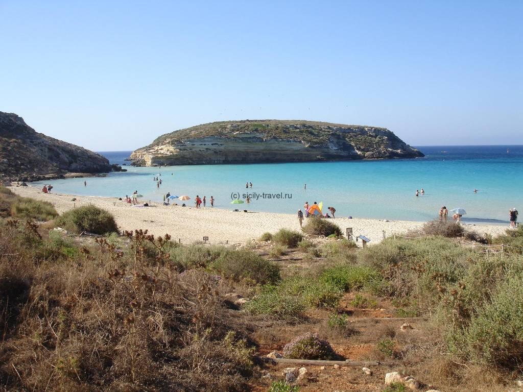 Пляжи Лампедузы