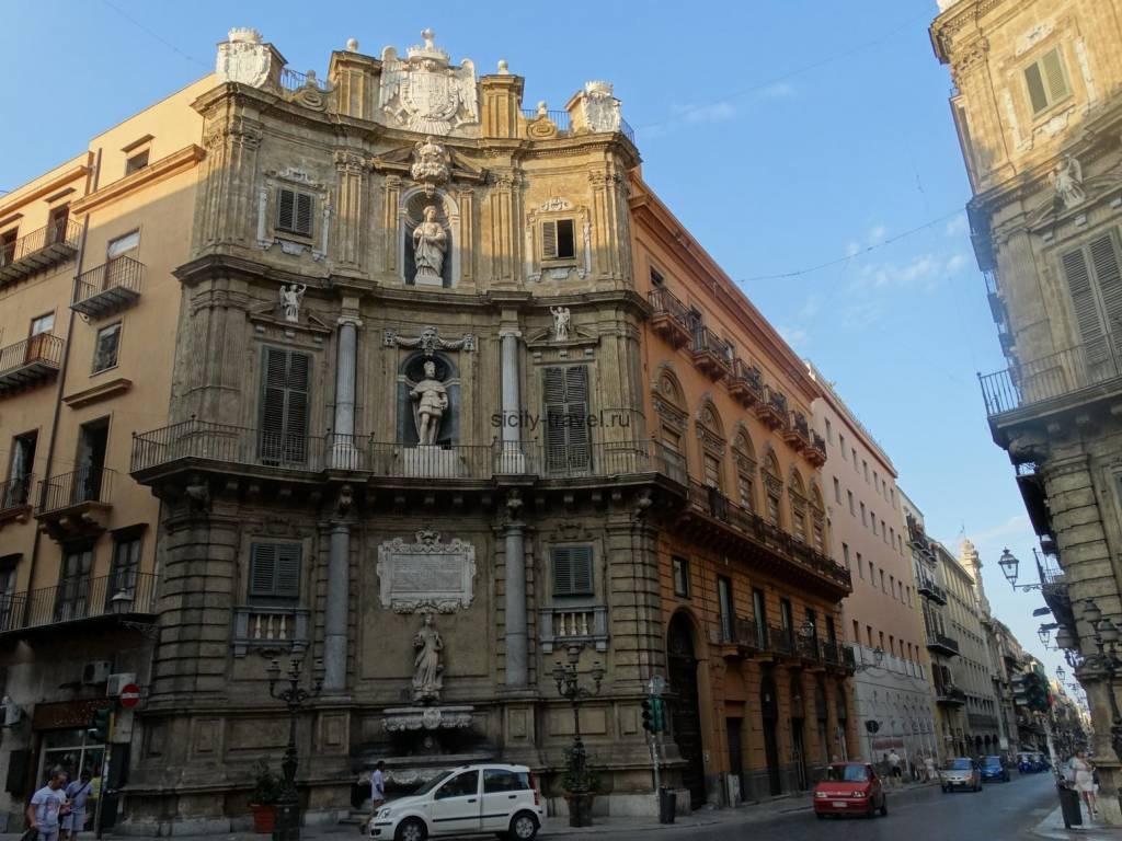Площадь четырех углов в Палермо